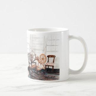 Old Spinning Wheel Coffee Mugs
