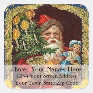 Old St Nick Vintage Address Label Stickers