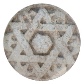 Old Star of David carving, Israel Plate