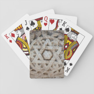 Old Star of David carving, Israel Playing Cards