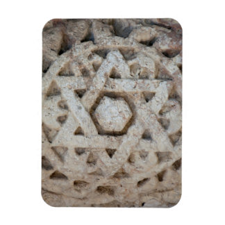 Old Star of David carving, Israel Rectangular Photo Magnet