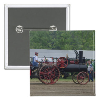Old Steam Engine Tractor Pinback Button