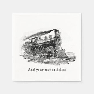Old Steam Locomotive Disposable Napkin