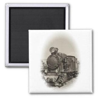 Old steam locomotive magnet