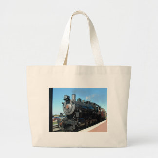 Old Steam Train One of a Kind Photo Shoot Large Tote Bag
