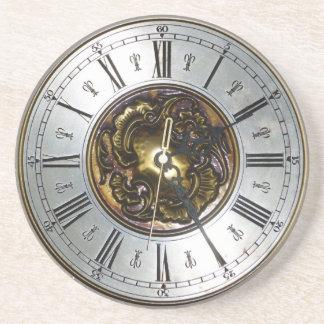 Old steampunk clock design accessoires, vintage coaster