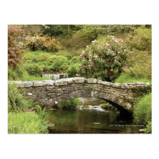 Old Stone Bridge Across A Stream In Dartmoor Park Postcard