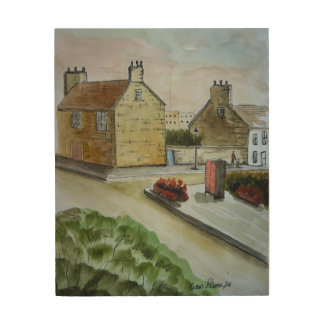 Old Stone Buildings of Scotland Wood Print