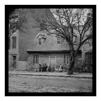 Old Stone House in Richmond,VA 1865 Poster
