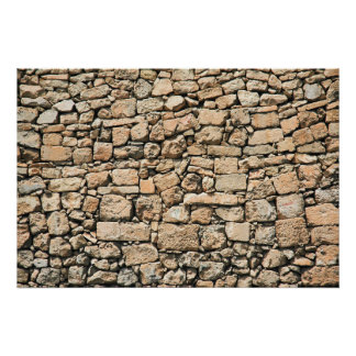 Old stone wall texture posters