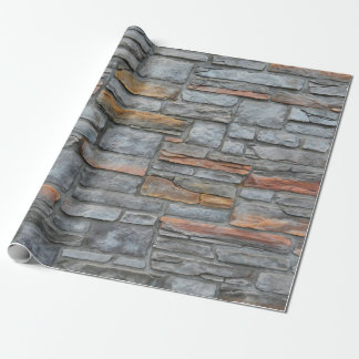 Old Stone Wall Texture Wrapping Paper