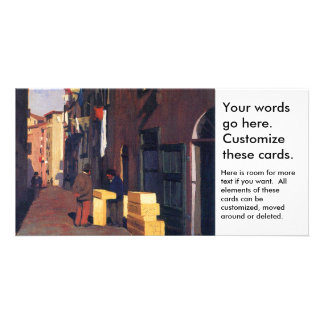 Old Street in Nice France painting art Vallatton Personalized Photo Card