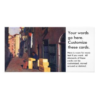 Old Street in Nice France painting art Vallatton Photo Card