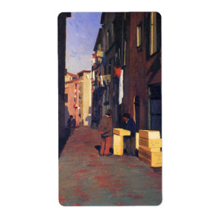 Old Street in Nice France painting art Vallatton Shipping Label