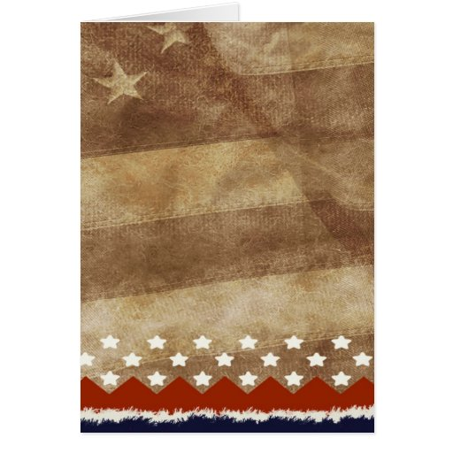 Old style American flag stars stripes Card