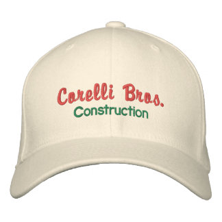 Old-Style Construction Company Cap Embroidered Cap