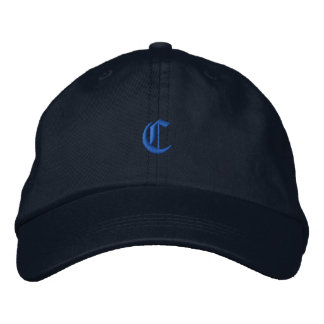 Old Style Letter C Embroidered Baseball Cap