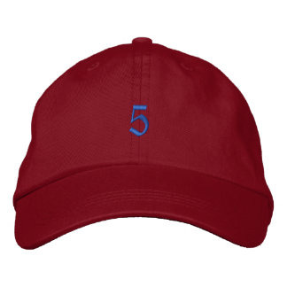 Old Style Number 5 Embroidered Baseball Cap