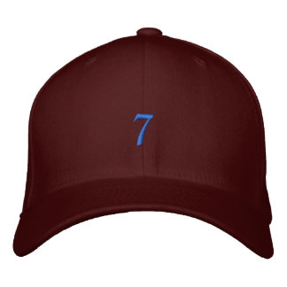 Old Style Number 7 Embroidered Hat