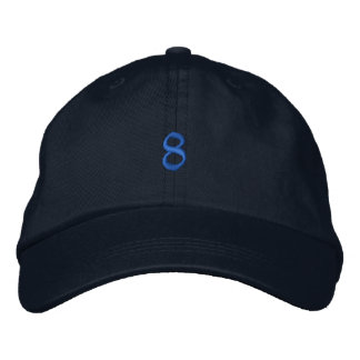 Old Style Number 8 Embroidered Baseball Caps