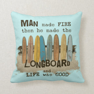 Old Surfer Humor Throw Cushion