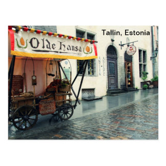 Old Talllin, Estonia Postcard
