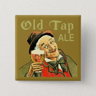 Old Tap Ale 15 Cm Square Badge