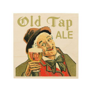 Old Tap Ale Wood Wall Art