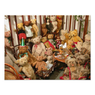 Old Teddy Bears Collection Art Photo
