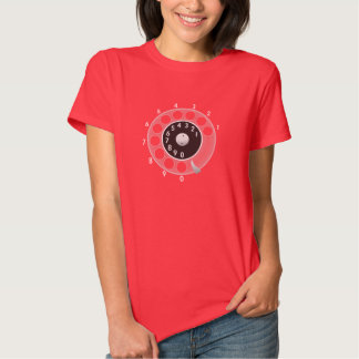 Old telephone rotary dial t shirt