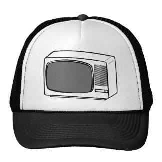 Old Television drawing - TV Set CRT vintage Cap