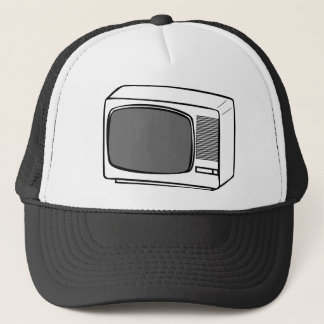 Old Television drawing - TV Set CRT vintage Trucker Hat