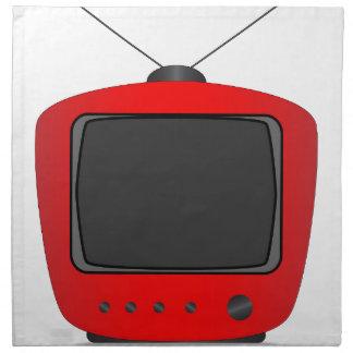 Old Television Set Napkin