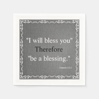 Old Testament Bible Scripture Blessing – Genesis 2 Disposable Serviettes