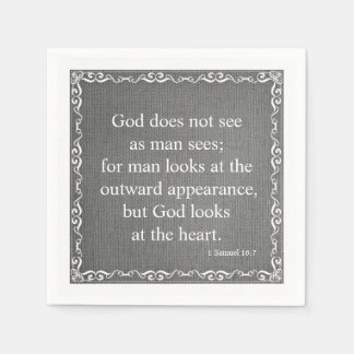 Old Testament Bible Scripture Quote – 1 Samuel 16: Disposable Napkin