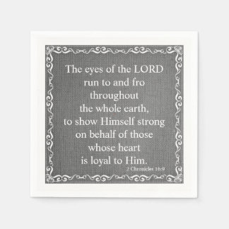 Old Testament Bible Scripture Quote – 2 Chronicles Paper Napkins