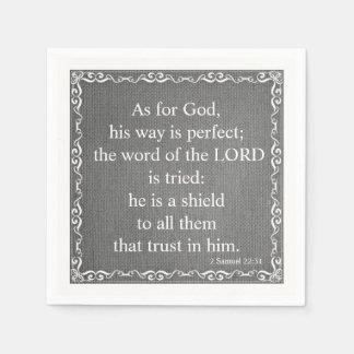 Old Testament Bible Scripture Quote – 2 Samuel 22: Paper Napkins