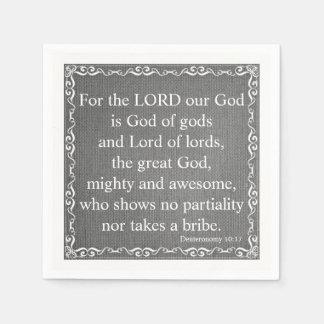 Old Testament Bible Scripture Quote – Deuteronomy Disposable Serviettes
