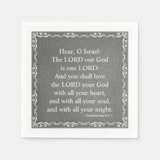 Old Testament Bible Scripture Quote – Deuteronomy Paper Napkin