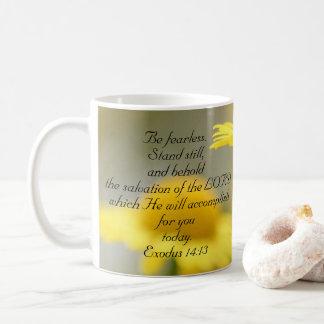 Old Testament Bible Scripture Quote – Exodus 14:13 Coffee Mug