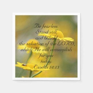Old Testament Bible Scripture Quote – Exodus 14:13 Paper Napkin