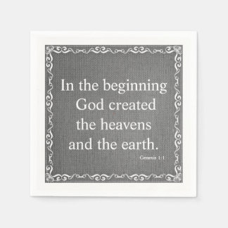 Old Testament Bible Scripture Quote – Genesis 1:1 Disposable Napkins
