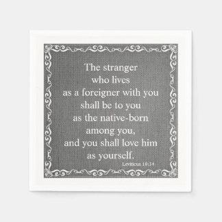 Old Testament Bible Scripture Quote – Leviticus 19 Disposable Serviette