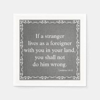 Old Testament Bible Scripture Quote – Leviticus 19 Paper Napkins