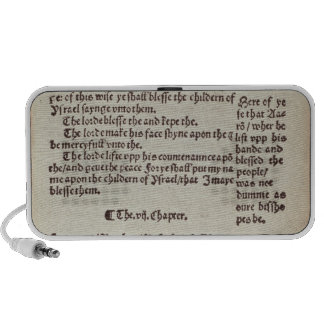 Old Testament text page iPhone Speaker