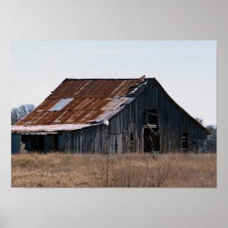 Old Texas Barn 37 Poster