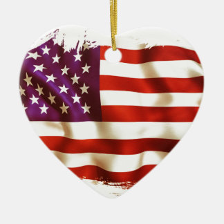 Old the USA flag Ceramic Ornament