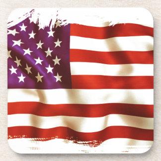 Old the USA flag Coaster