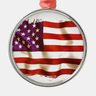 Old the USA flag Metal Ornament