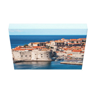 Old Themed, Ancient Village Of Castles With Red Ro Canvas Prints
